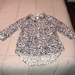 Chico's size 2 (size 12) animal print button down